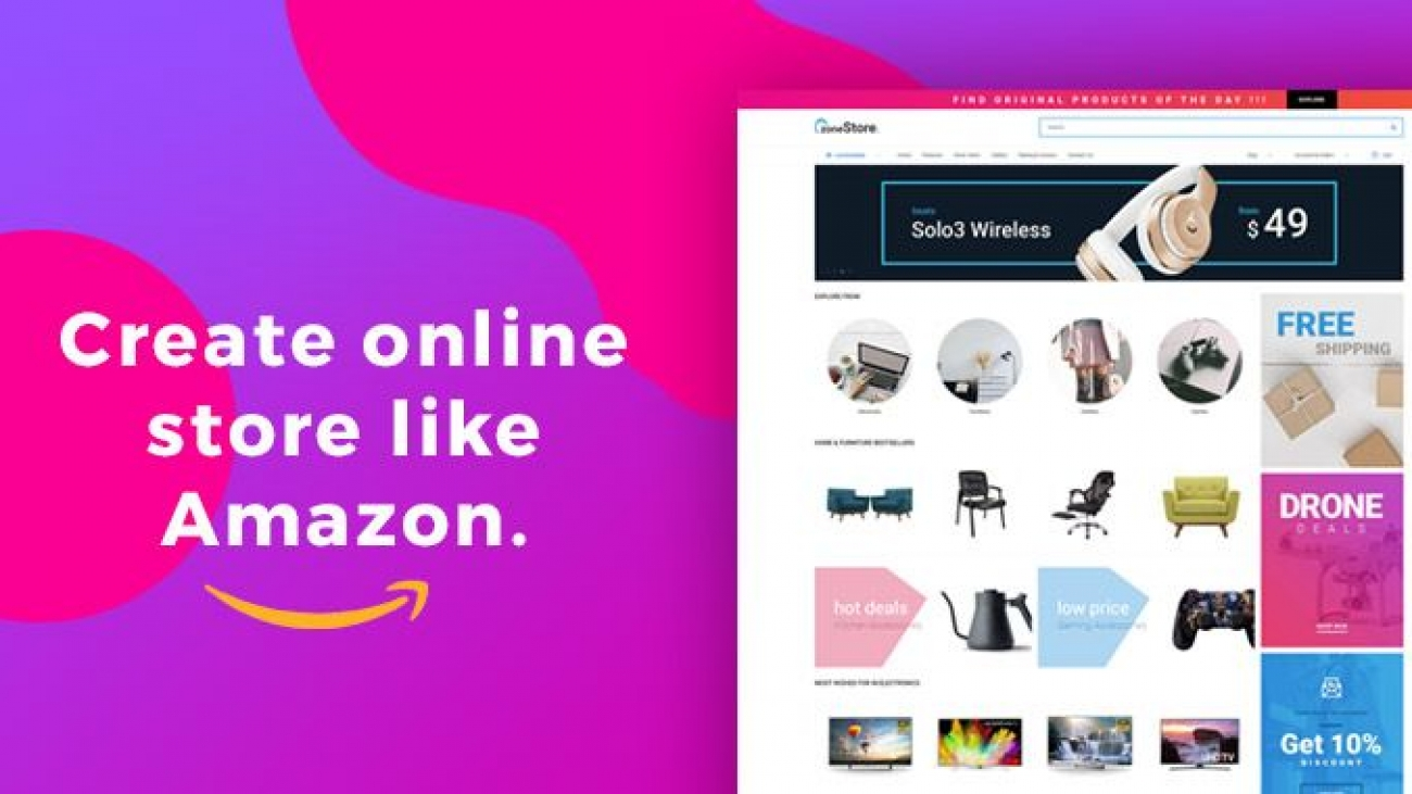 How To Make eCommerce Website Like Amazon For Free